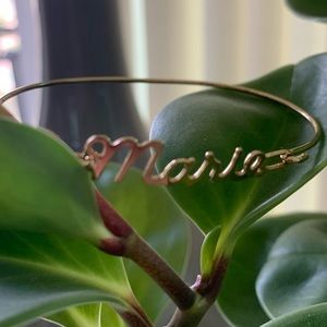 "Vintage Name Plate ""Marie"" Bracelet Gold Color"